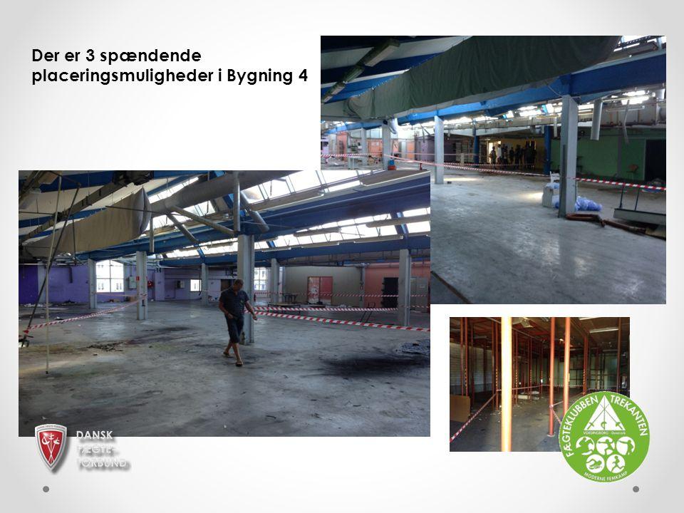 Der er 3 spændende placeringsmuligheder i Bygning 4