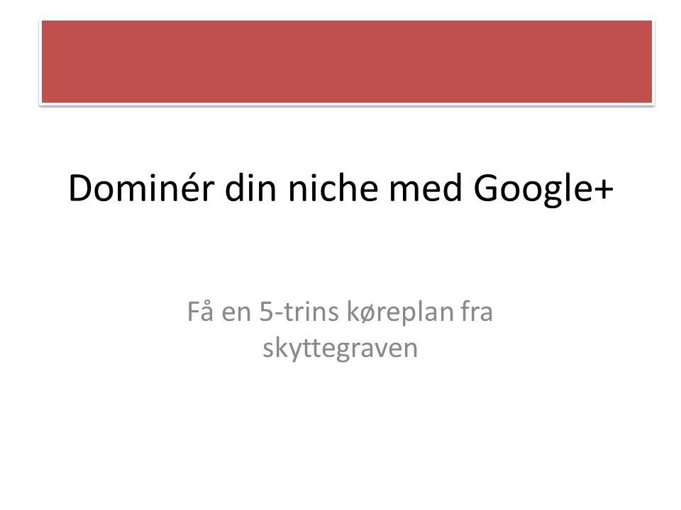 Dominér din niche med Google+ Få en 5-trins køreplan fra skyttegraven