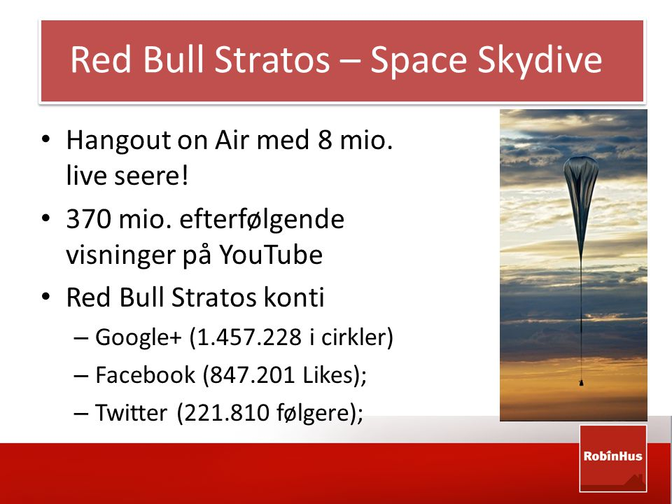 Red Bull Stratos – Space Skydive • Hangout on Air med 8 mio.