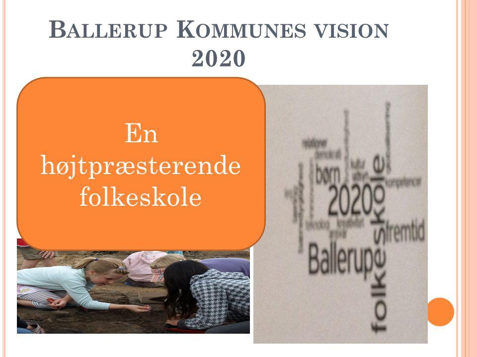 B ALLERUP K OMMUNES VISION 2020 En højtpræsterende folkeskole