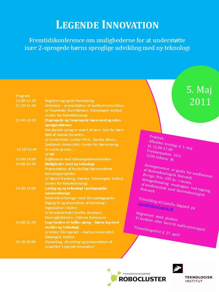 Praktisk: Afholdes torsdag d. 5. maj kl. 12.00-17.00 Forskerparken 10 F, 5230 Odense M.