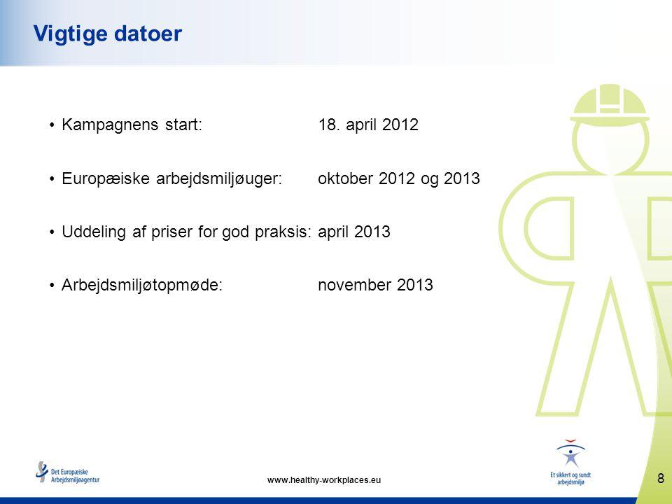 www.healthy-workplaces.eu •Kampagnens start: 18.