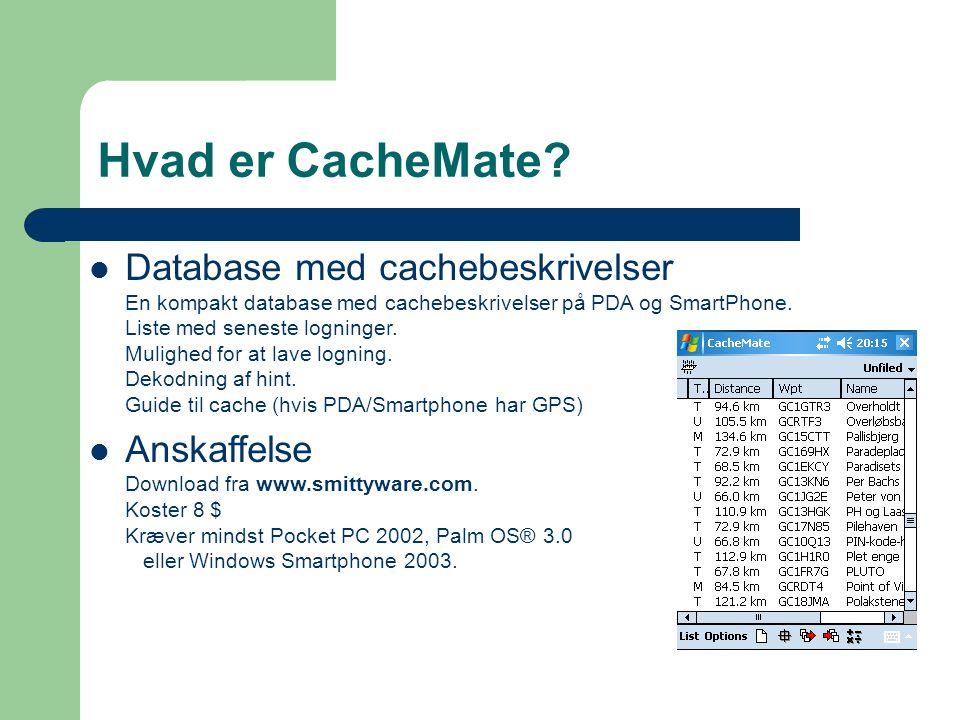 Hvad er CacheMate.