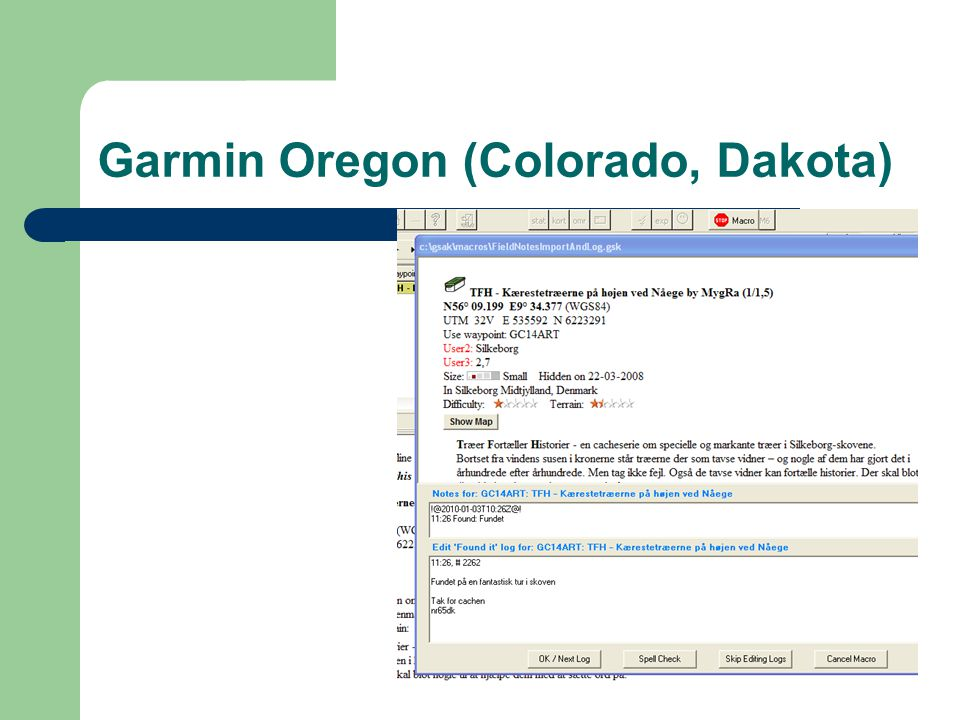 Garmin Oregon (Colorado, Dakota)