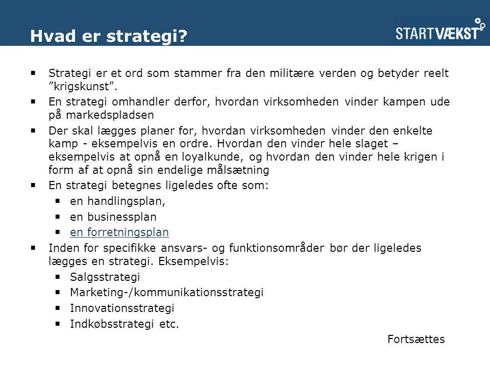 Hvad er strategi.