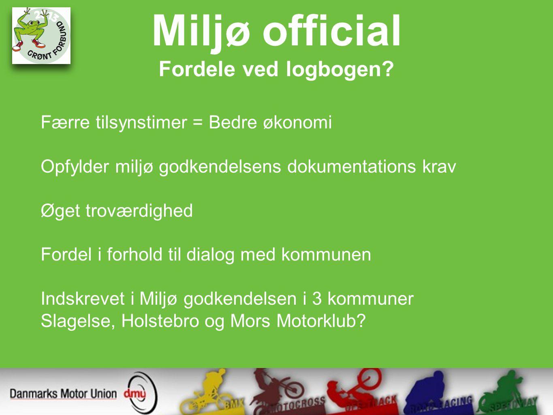 Miljø official Fordele ved logbogen.