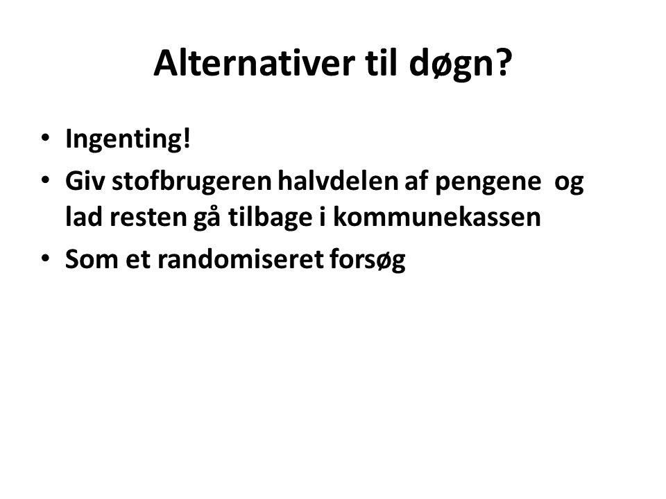 Alternativer til døgn. • Ingenting.