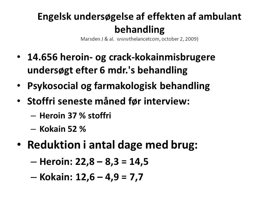 Engelsk undersøgelse af effekten af ambulant behandling Marsden J & al.