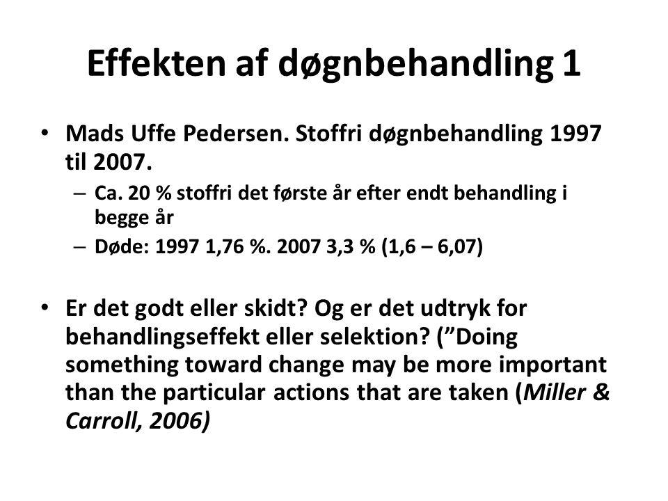 Effekten af døgnbehandling 1 • Mads Uffe Pedersen.