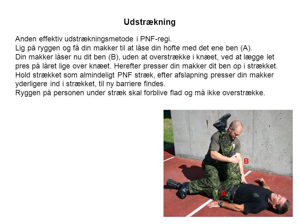 Udstrækning Anden effektiv udstrækningsmetode i PNF-regi.
