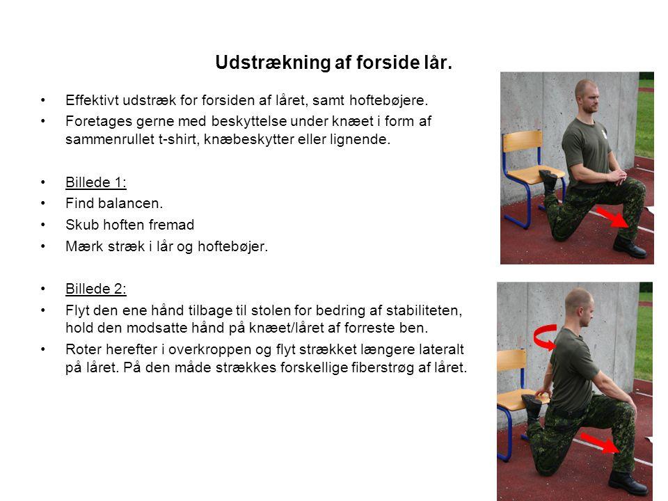 Udstrækning af forside lår.•Effektivt udstræk for forsiden af låret, samt hoftebøjere.