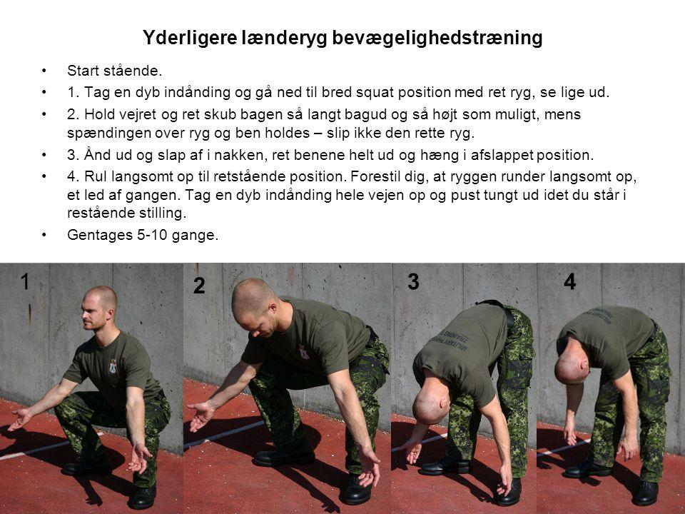Yderligere lænderyg bevægelighedstræning •Start stående.