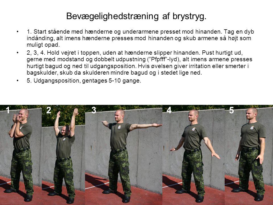 Bevægelighedstræning af brystryg.•1.
