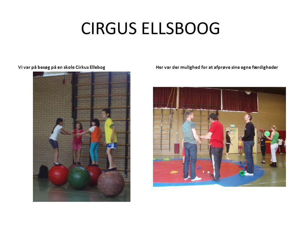 CIRGUS ELLSBOOG Vi var på besøg på en skole Cirkus EllebogHer var der mulighed for at afprøve sine egne færdigheder