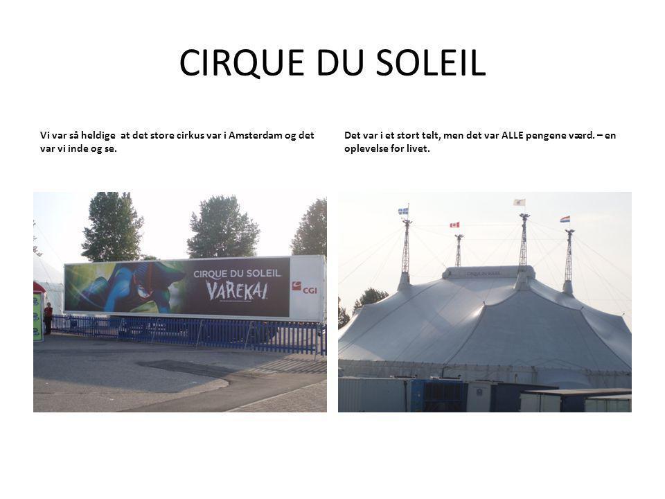 Vi var så heldige at det store cirkus var i Amsterdam og det var vi inde og se.