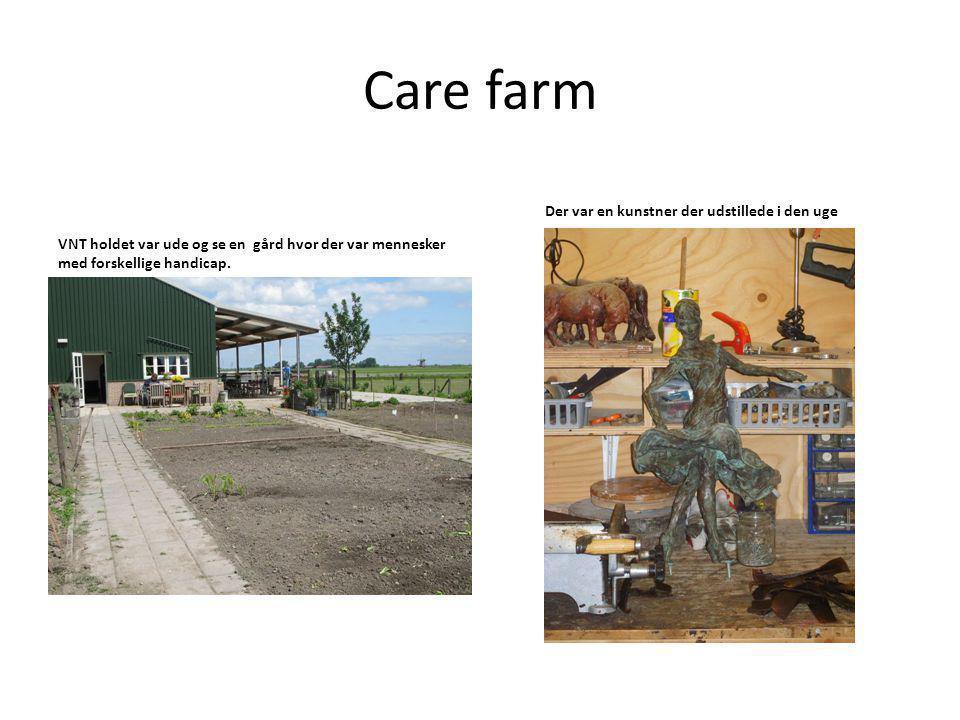 Care farm VNT holdet var ude og se en gård hvor der var mennesker med forskellige handicap.