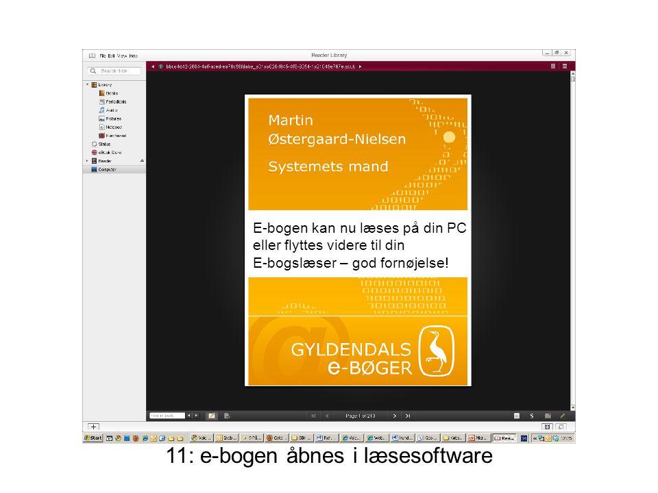 E-bogen kan nu læses på din PC eller flyttes videre til din E-bogslæser – god fornøjelse!