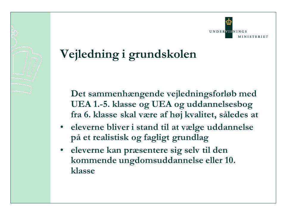 Vejledning i grundskolen Det sammenhængende vejledningsforløb med UEA 1.-5.