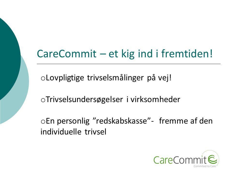 CareCommit – et kig ind i fremtiden. o Lovpligtige trivselsmålinger på vej.