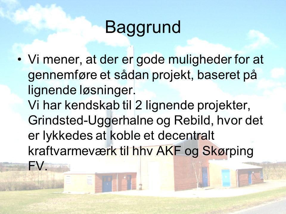 Baggrund •Vi mener, at der er gode muligheder for at gennemføre et sådan projekt, baseret på lignende løsninger.
