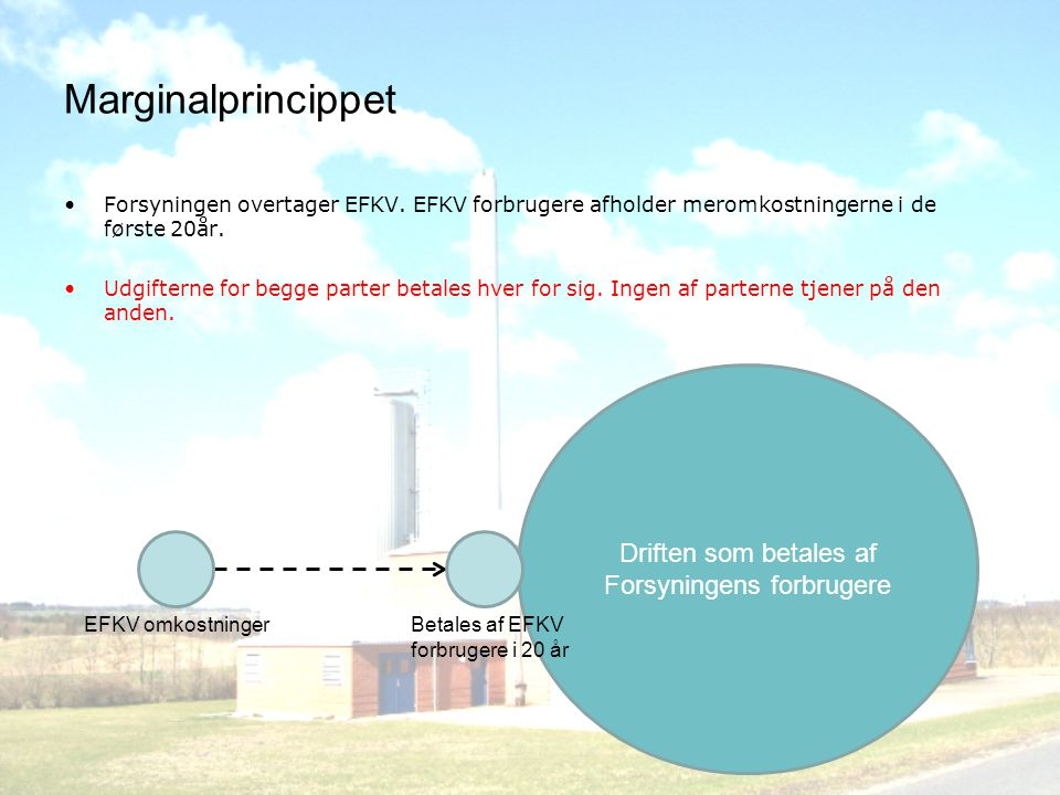 Marginalprincippet •Forsyningen overtager EFKV.