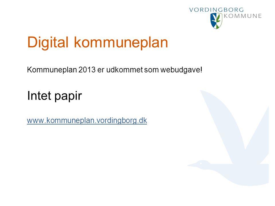 Punktopstilling Marker den ønskede tekst og vælg Forøg indrykning: For at fjerne punktmarkering vælg Formindsk indrykning: Digital kommuneplan Kommuneplan 2013 er udkommet som webudgave.