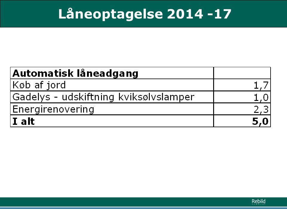 Låneoptagelse 2014 -17