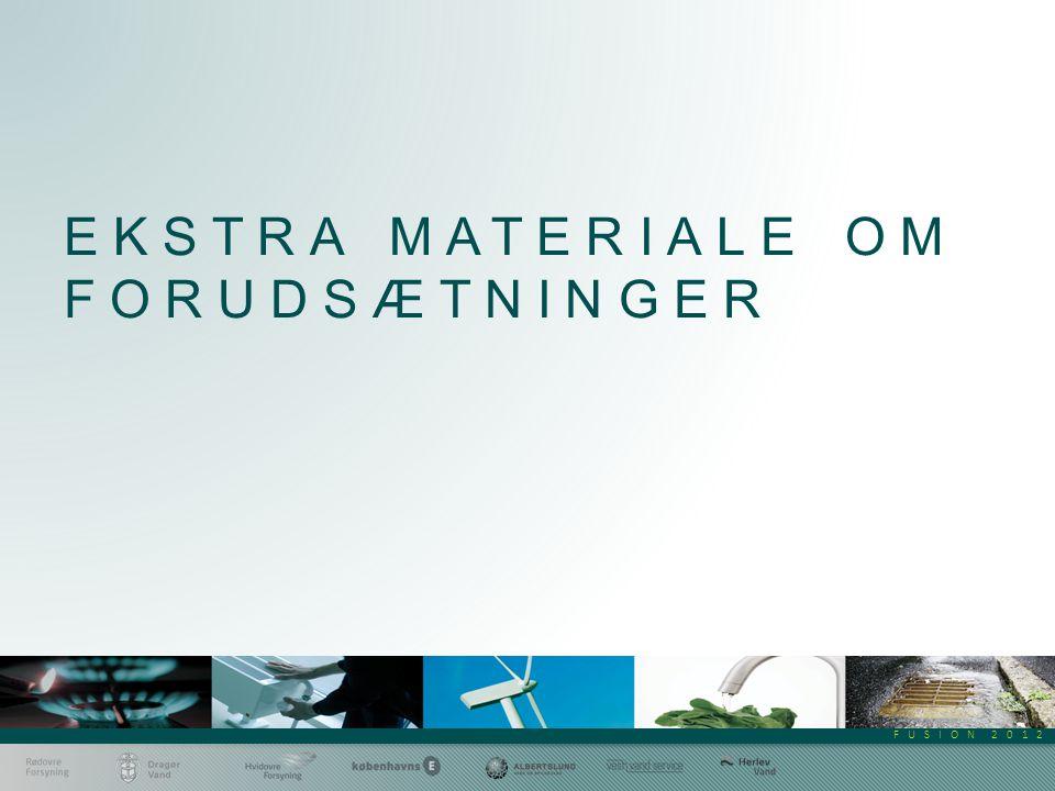 FUSION 2012 EKSTRA MATERIALE OM FORUDSÆTNINGER