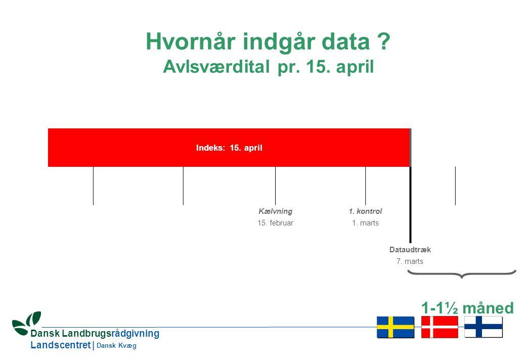 15 Dansk Landbrugsrådgivning Landscentret | Dansk Kvæg Indeks: 15.