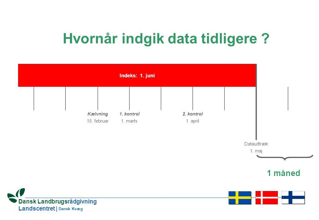 17 Dansk Landbrugsrådgivning Landscentret | Dansk Kvæg Hvornår indgik data tidligere .