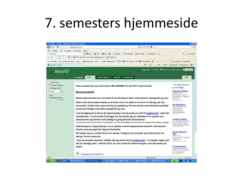 7. semesters hjemmeside