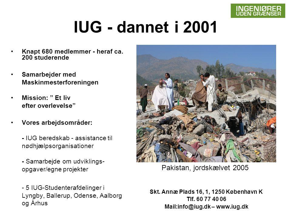 IUG - dannet i 2001 •Knapt 680 medlemmer - heraf ca.