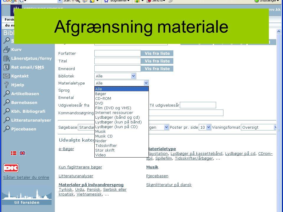 Niels JensenFABITA5 Afgrænsning materiale