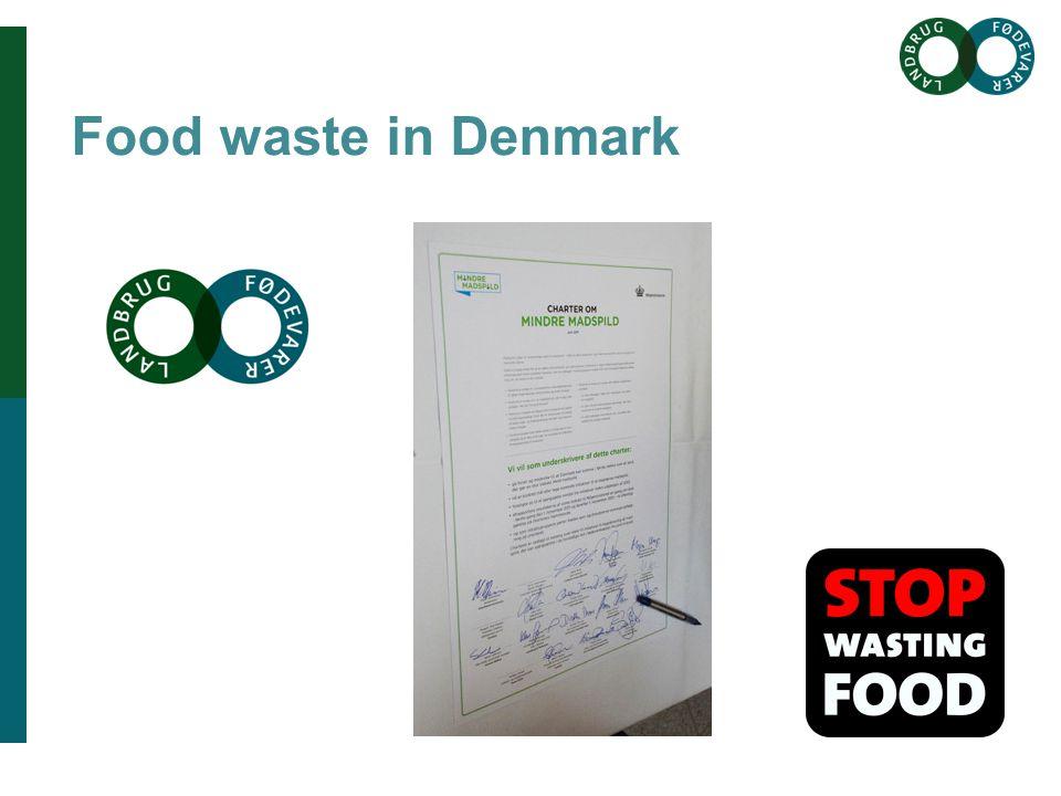 Brødtekst her Brødtekst starter uden bullets, hvis du vil have bullets brug Forøge / Formindske indryk for at få de forskellige niveauer frem Overskrift her Food waste in Denmark