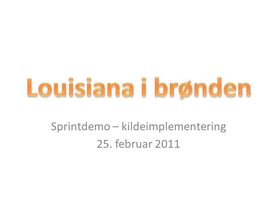 Sprintdemo – kildeimplementering 25. februar 2011