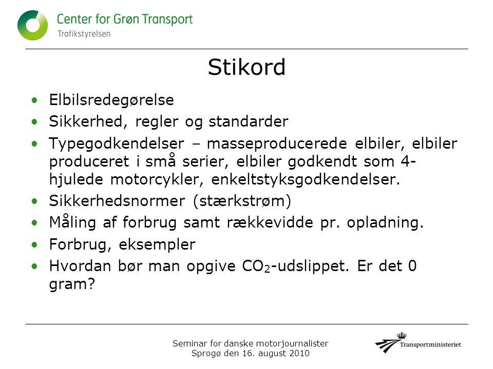Seminar for danske motorjournalister Sprogø den 16.