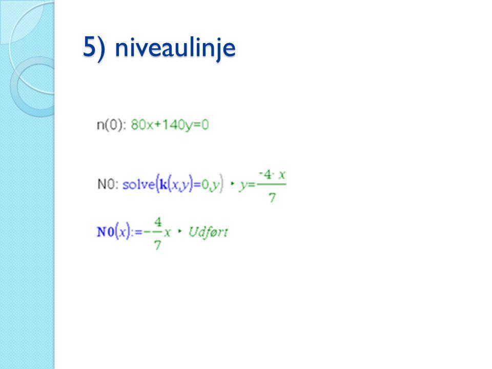 5) niveaulinje