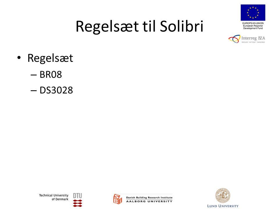 Regelsæt til Solibri • Regelsæt – BR08 – DS3028