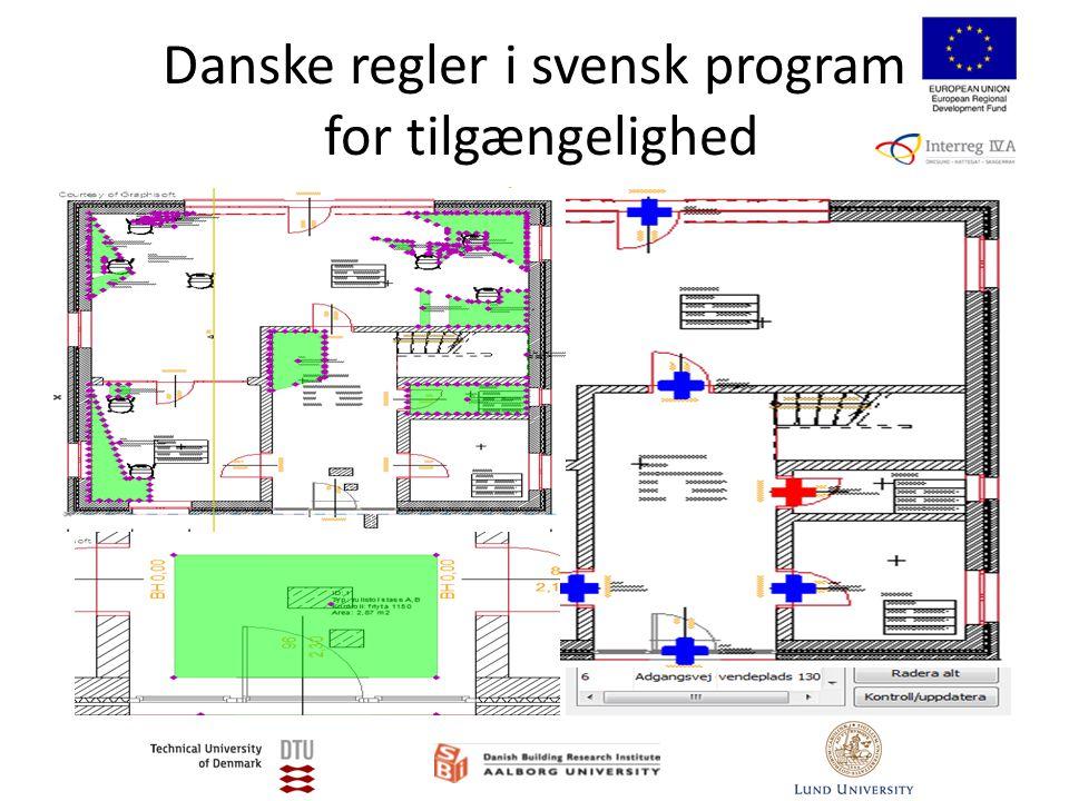 Danske regler i svensk program for tilgængelighed