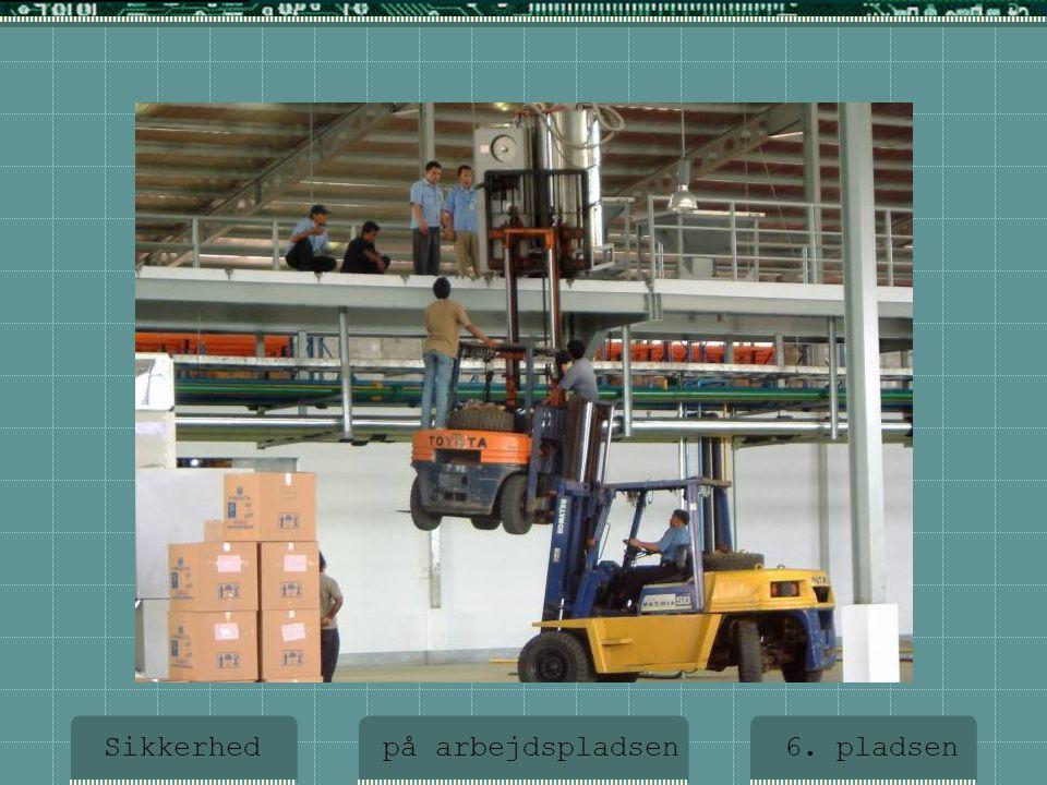 6. pladsen Sikkerhed på arbejdspladsen 6. pladsen