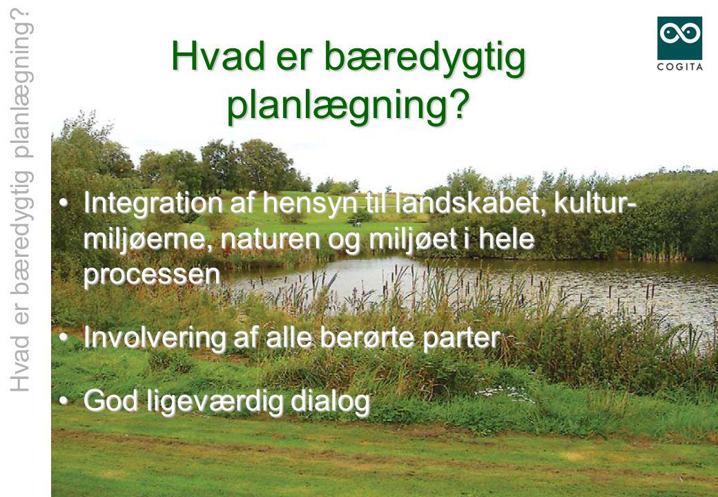 Hvad er bæredygtig planlægning.