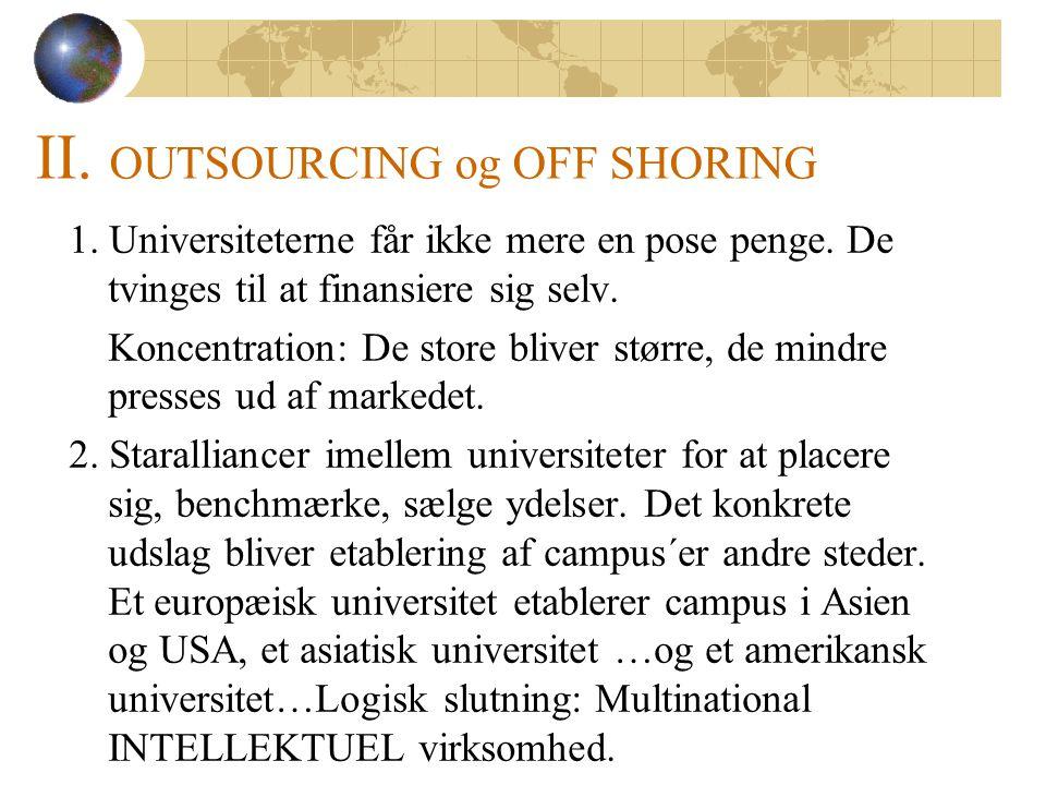 1. Universiteterne får ikke mere en pose penge. De tvinges til at finansiere sig selv.