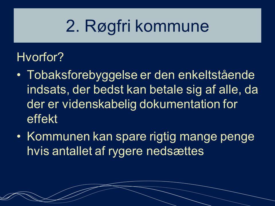 2. Røgfri kommune Hvorfor.