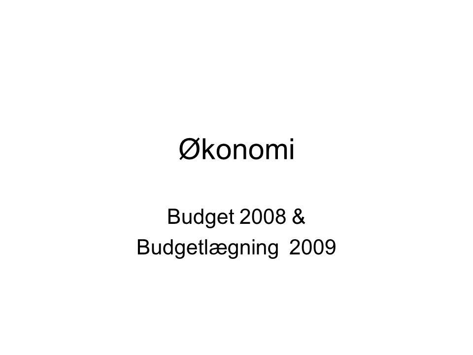 Økonomi Budget 2008 & Budgetlægning 2009