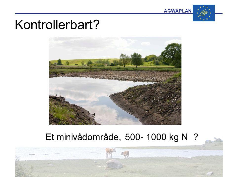 AGWAPLAN Kontrollerbart Et minivådområde, 500- 1000 kg N