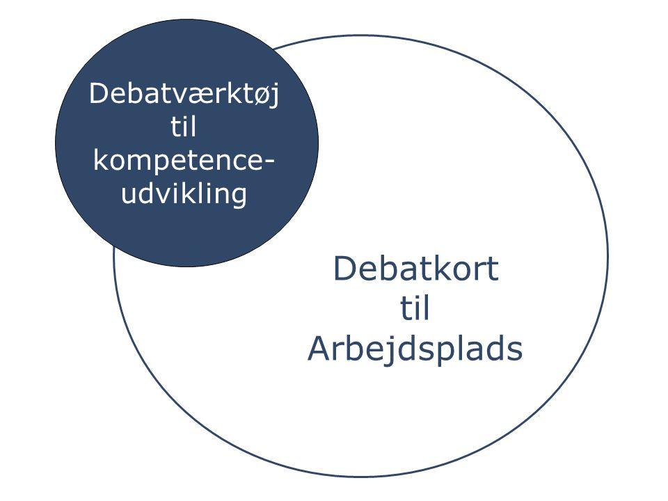 Debatkort til Arbejdsplads Debatværktøj til kompetence- udvikling