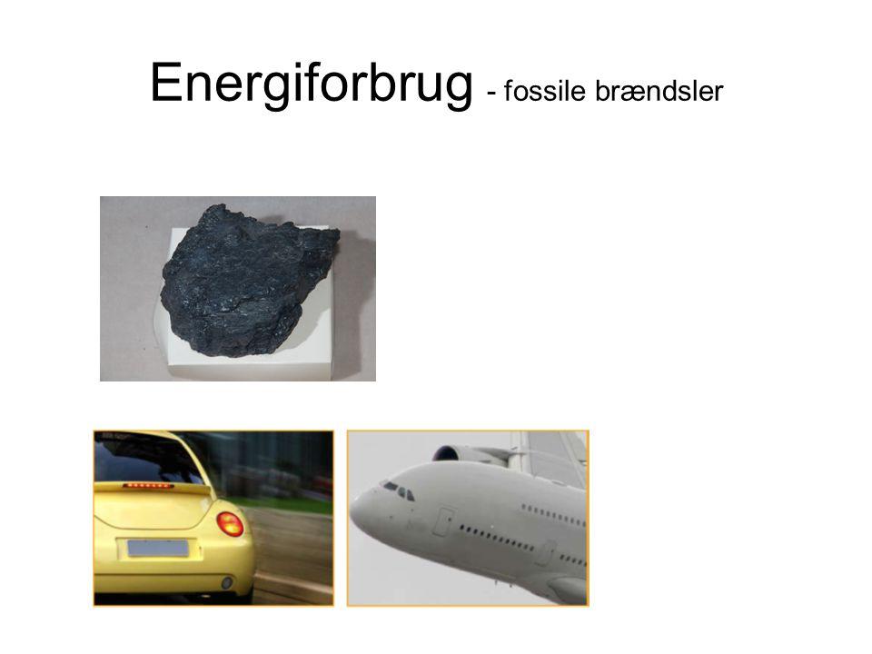 Energiforbrug - fossile brændsler