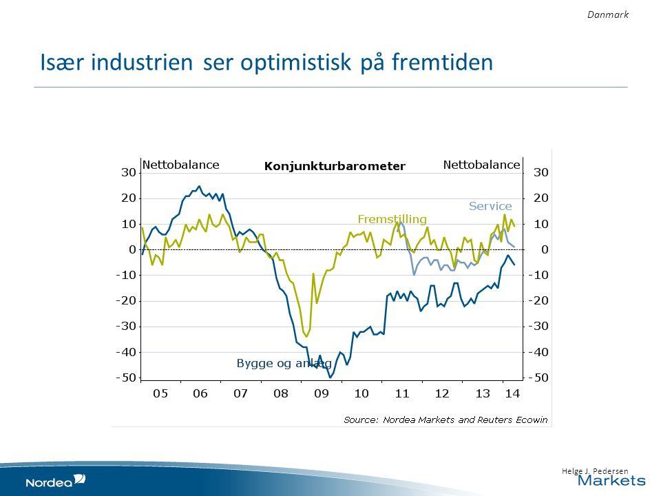 Især industrien ser optimistisk på fremtiden • 23 April 2014 1010 • Helge J. Pedersen Danmark