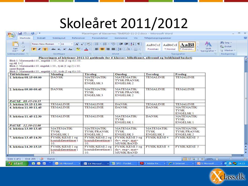 Skoleåret 2011/2012