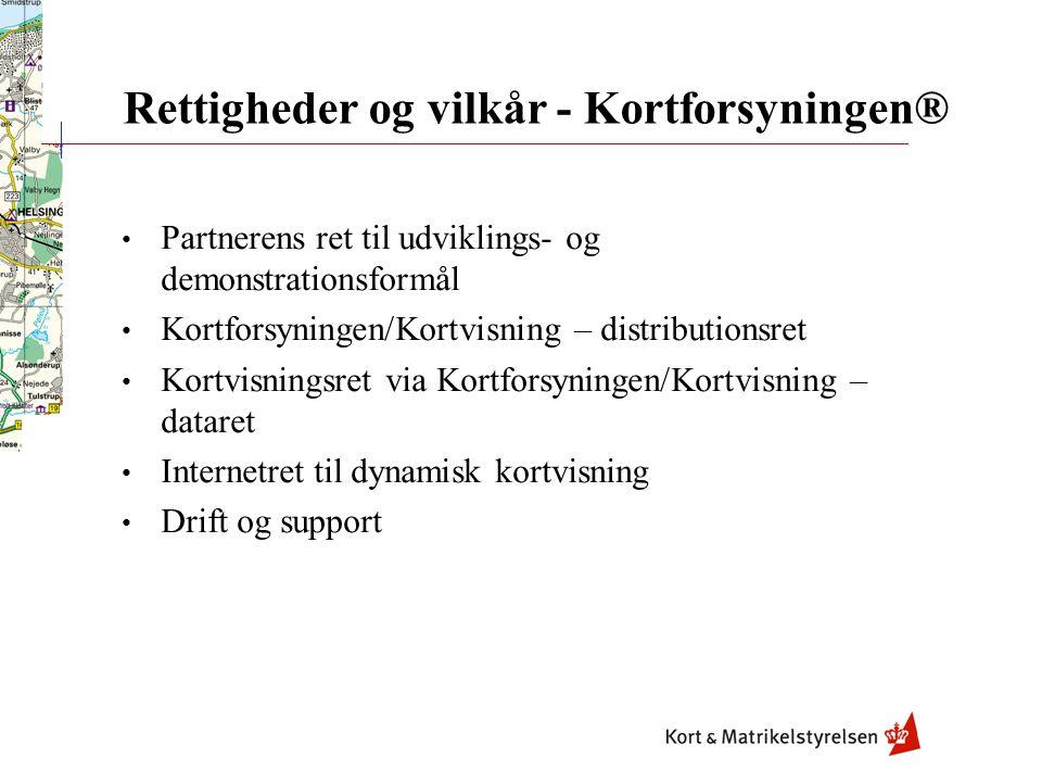 Rettigheder og vilkår - Kortforsyningen® Peter Knudsen Markedsområdet Kundekonsulent partnere